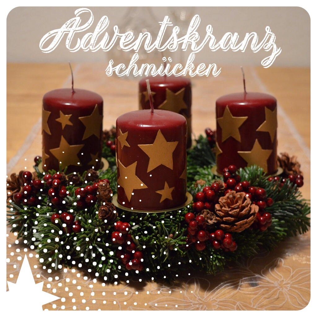 adventskranz dekorieren ernstlichdeins. Black Bedroom Furniture Sets. Home Design Ideas