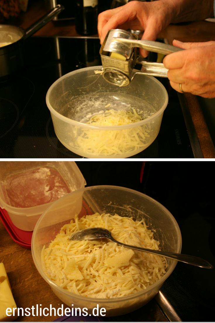 Käsefondue Käse reiben l ernstlichdeins