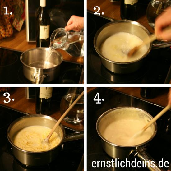 Käsefondue Zubereitung l ernstlichdeins