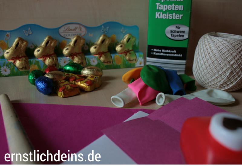 Überraschungsei aus Pappmaché Zutaten l ernstlichdeins.de