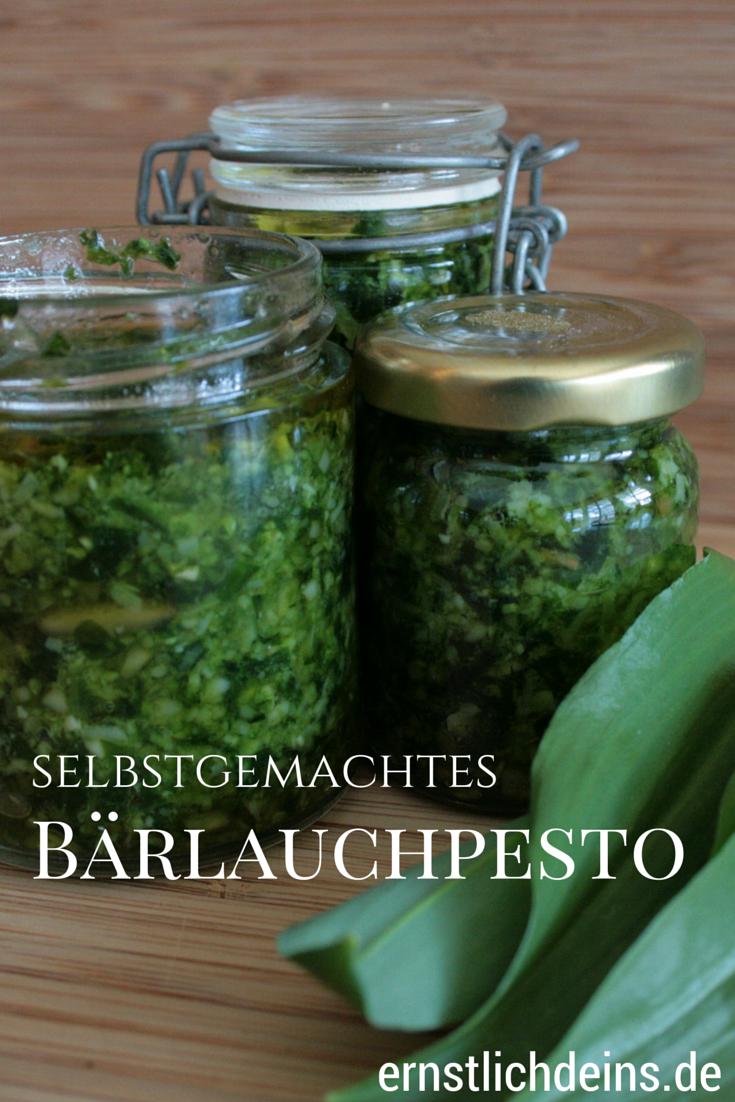 Rezept für selbstgemachtes Bärlauchpesto auf ernstlichdeins.de l ernstlichdeins.de